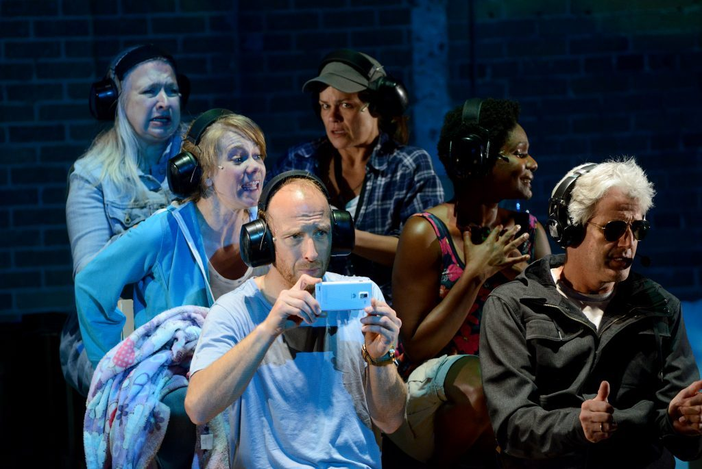"""The ensemble of """"The Watershed"""" during the 2015 PANAMANIA Production (Tanja Jacobs top left)"""