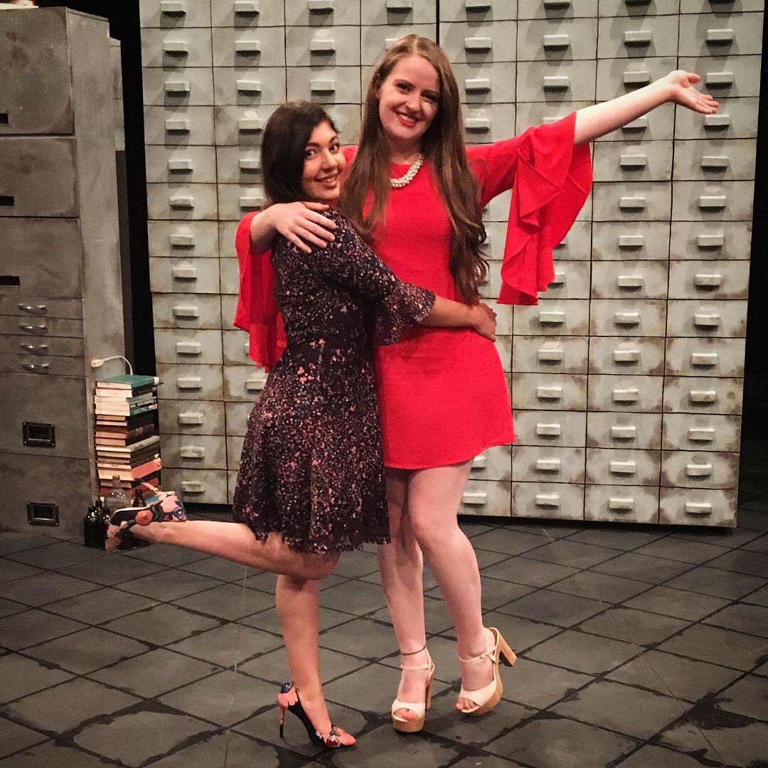 Set designer Mona Farahmand (left) and costume designer Tiana Kralj (right) celebrating a sold out opening night!